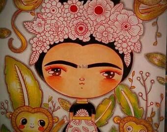 Little Frida and the monkeys