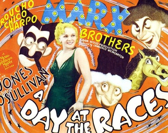 Marx Brothers A Day At The Races 1937 Movie Film - Vintage Reproduction Wall Art Home Decor Poster Print A4