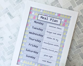 Meal Planner, Weekly Menu, Family Planner, Kitchen Decor, Home Organisation, Housewarming Gift, Meal Planning, Weekly Planner, Kitchen Art