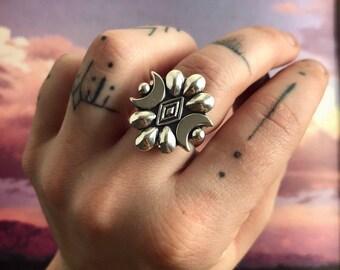 Cosmic Seeker Sterling Silver Ring