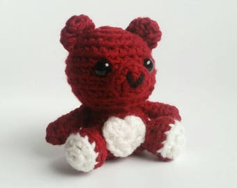 Mini Crochet Valentine Bear