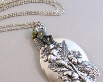 Woodland Gypsy,Gypsy Necklace,Floral Necklace,Woodland Flower,Woodland Neckalce,Rustic Neckalce,Rustic Jewelry,Forest Flower,Forest Jewelry