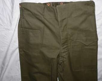 NOS french army pants 1950s  deadstock
