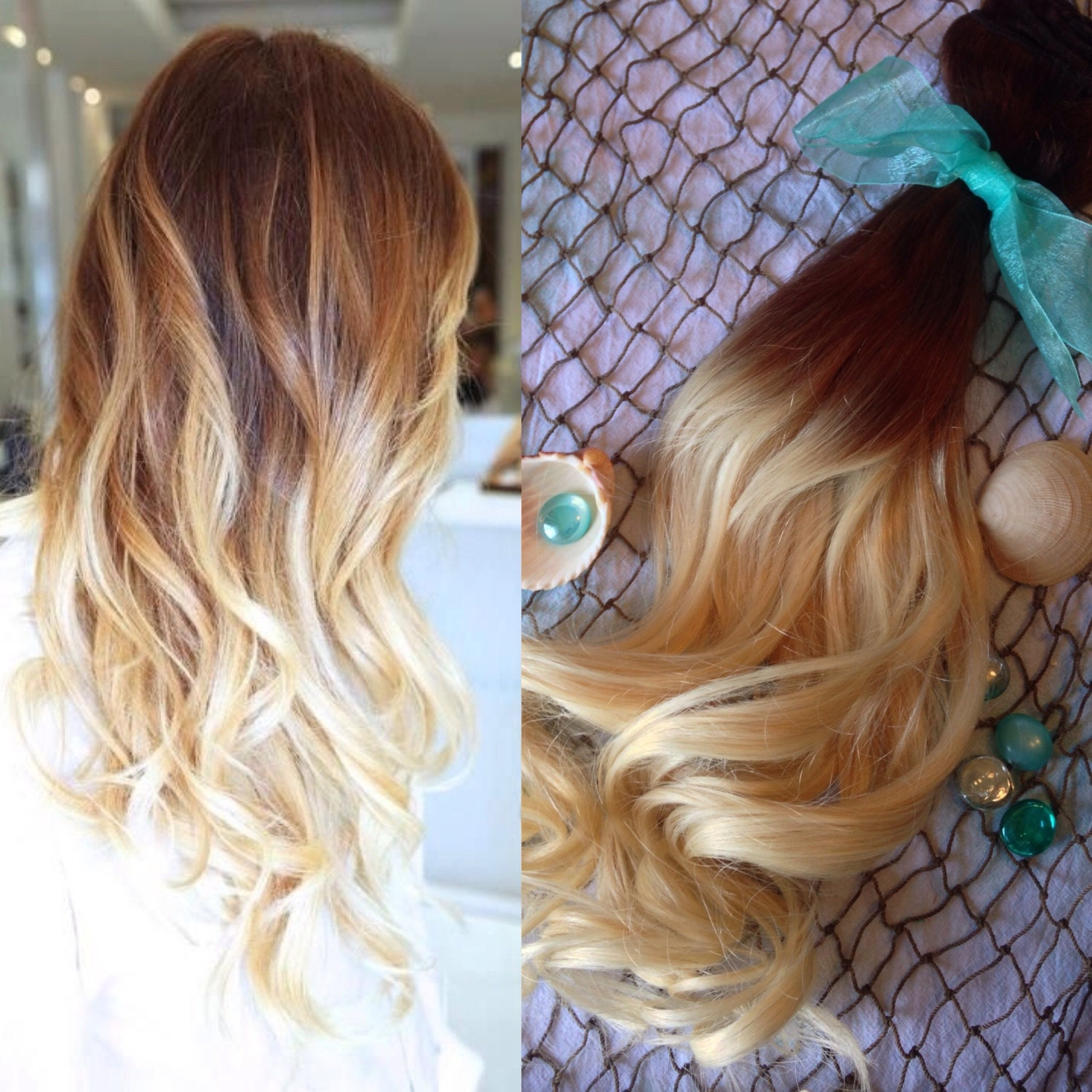 Ombre Hair Extensions Full Set Balayage Hair Extensions