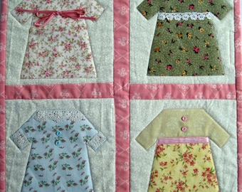 Fancy Frocks Quilted Wall Hanging by Made Marion