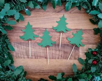 Christmas Cupcake topper, Christmas Tree Cupcake topper, Traditional Christmas topper, Christmas decoration,Christmas cupcake,Cupcake topper