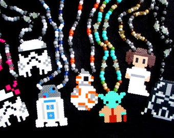 Star Wars Birthday Party Favor Necklaces Rave Kandi Comic Con Perler Bead