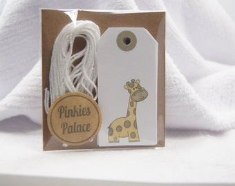 Baby Shower Wish Tree Favor Tags Gender Neutral Giraffe Journal Tags Journaling Tags set of 12