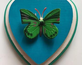 Faux taxidermy butterfly
