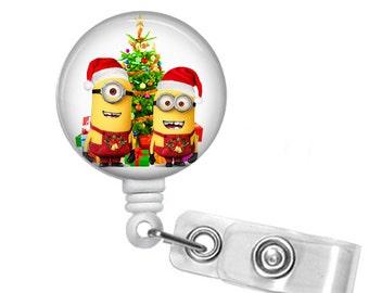 minion christmas minion id badge holder retractable badge reelsanta minion minion - Minion Christmas Tree