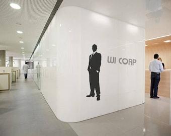 Business, Office Gentleman Wall Decal