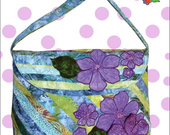 Applique and Beaded Fower Large Bag, 2 from 1 Bali Pop - Annabella