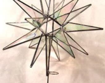 "10"" 18 Point Moravian Star Tree Topper"