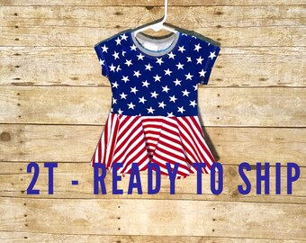 Peplum top // toddler peplum // red white and blue top // 4th of july top // toddler outfit // ready to ship patriotic top
