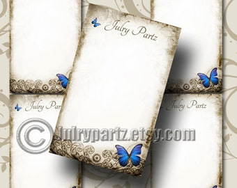 ELECTRIC BLUE BUTTERFLY Earring Cards, Jewelry cards,Tent Card, Earring Display,Display, Earring Holder, Necklace Holder