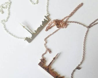 TORONTO skyline necklace / rose gold / silver / gift for her / yyz / the6ix/ the six / toronto vs. / toronto necklace / unique