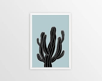 Cactus Print, Cactus Decor, Black And White Succulent Print, Succulent Plants Wall Decor, Cactus Wall Art, Succulent Gift Instant Download