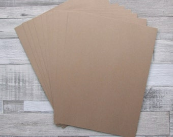 25 Sheets of Recycled Kraft Brown Manilla A4 Size Card 280g