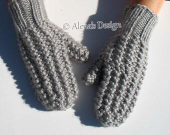 Knitting Mitten Pattern 179 Adult Mittens in three sizes Knitting Pattern Women's Men's Mittens Teen's Mittens Knitting Glove Pattern Ladies