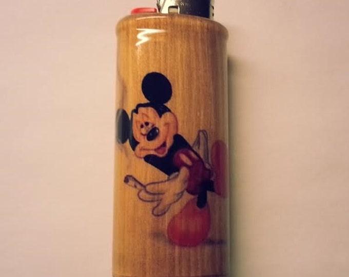 Mickey Mouse Joint Lighter Case,  Lighter Holder, Lighter Sleeve