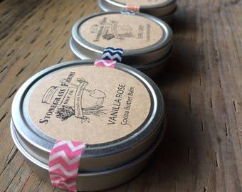 Cocoa Butter Balm - Organic Balm - Hand Balm - Body Balm - Foot Balm - Natural Salve - Essential Oil Balm - Cocoa Butter Salve