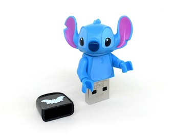 Stitch usb 16GB, Disney usb, Lego Disney usb, Creature usb, Lego® original Minifigure, Disney Minifigure, Animal usb, Lego usb flash drive