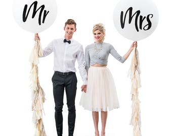 Wedding Balloons, Mr and Mrs. Wedding Balloons, Wedding Balloon, Wedding Decorations, Wedding Photo Props