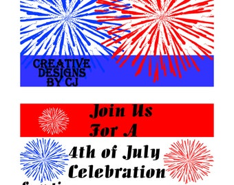 Invite / 4th of July Invitation / Celebration / Party / Invitation / July 4th / Fireworks / BBQ / Printables / Independence Day Invitation