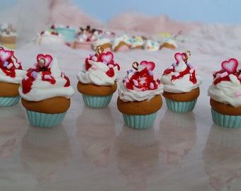 Accessoires poupées Cupcake Fraise
