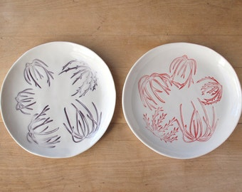 Reserved for wikinator. SALE Tumbleweeds. lunch plate pair