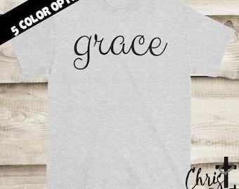 Grace Shirt, Christian Shirts, Inspirational Gift, Christian Clothing, Religious Shirts, Christian Tees, Christian Gift, Faith Tees