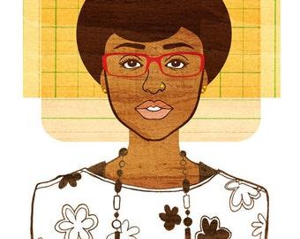 Yearbook Martha (Portrait), Art Print
