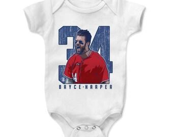 Bryce Harper Baby Clothes | Washington Baseball | Baby Romper | Bryce Harper Clutch B
