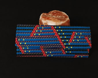 Blue and Red African Print Wallet