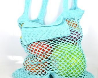 A string bag, avoska, shopping bag, farmers market bag, made in Russia