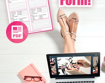 Video Creator Form, YouTube, Video Planner, Content Blogger Vlogger, For Video Bloggers, Printable Worksheet Digital Download