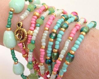 Beaded bracelet, Bracelet femme, Boho jewelry, Graduation gift, Gift for her, Gift for women, Bohemian, Handmade, Bracelet, Boho