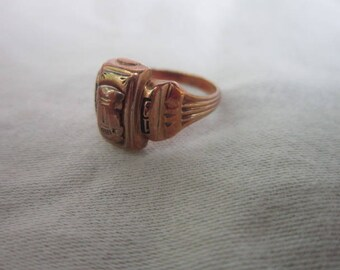 1964 Retro 10 K Solid Yellow Gold Class Ring Josten Size 5 1/2