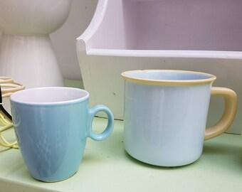 Soft pastel coffee mugs
