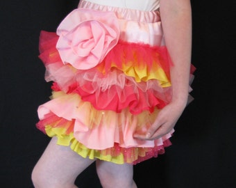 Ruffle Skirt made from Prom Dress Hems