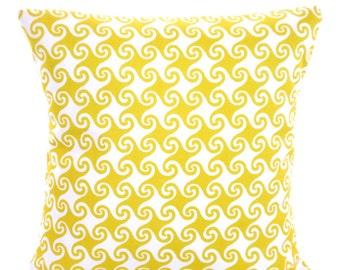OUTDOOR Yellow Nautical Pillow Covers Decorative Pillows Cushions Pineapple Yellow White Waikiki Beach Decor Patio Pillows ALL SIZES
