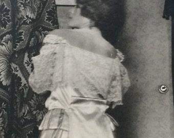 Vintage Photograph: Glamorous Woman in Satin