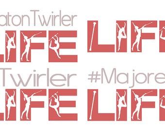 Majorette Baton Twirler Life SVG Cutting File