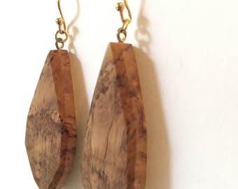 Reclaimed Elm Burl Wood Earrings