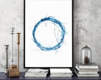 indigo blue print indigo art print indigo blue 11x14 art print etsy wall art blue circle print circle art print circle blue art circle blue
