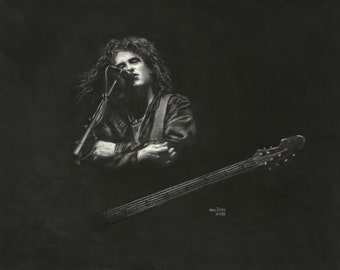 Art Original The Cure's Robert Smith On Stage (SOLD!)