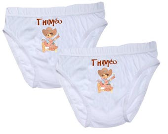 Pants boys cowboy personalized with name