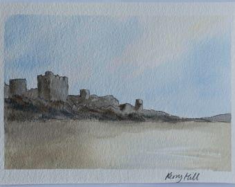 Bamburgh castle; low tide