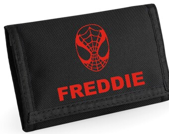 Personalised Spiderman Wallet - *Choice of colours*