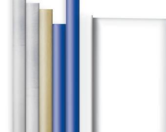 Jillson & Roberts Solid Color Matte Gift Wrap Roll Assortment, Hanukkah (6 Rolls)